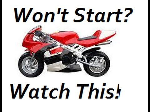 What To Do If Your Pocket Bike Won't Start! (or any 2-stroke engine)
