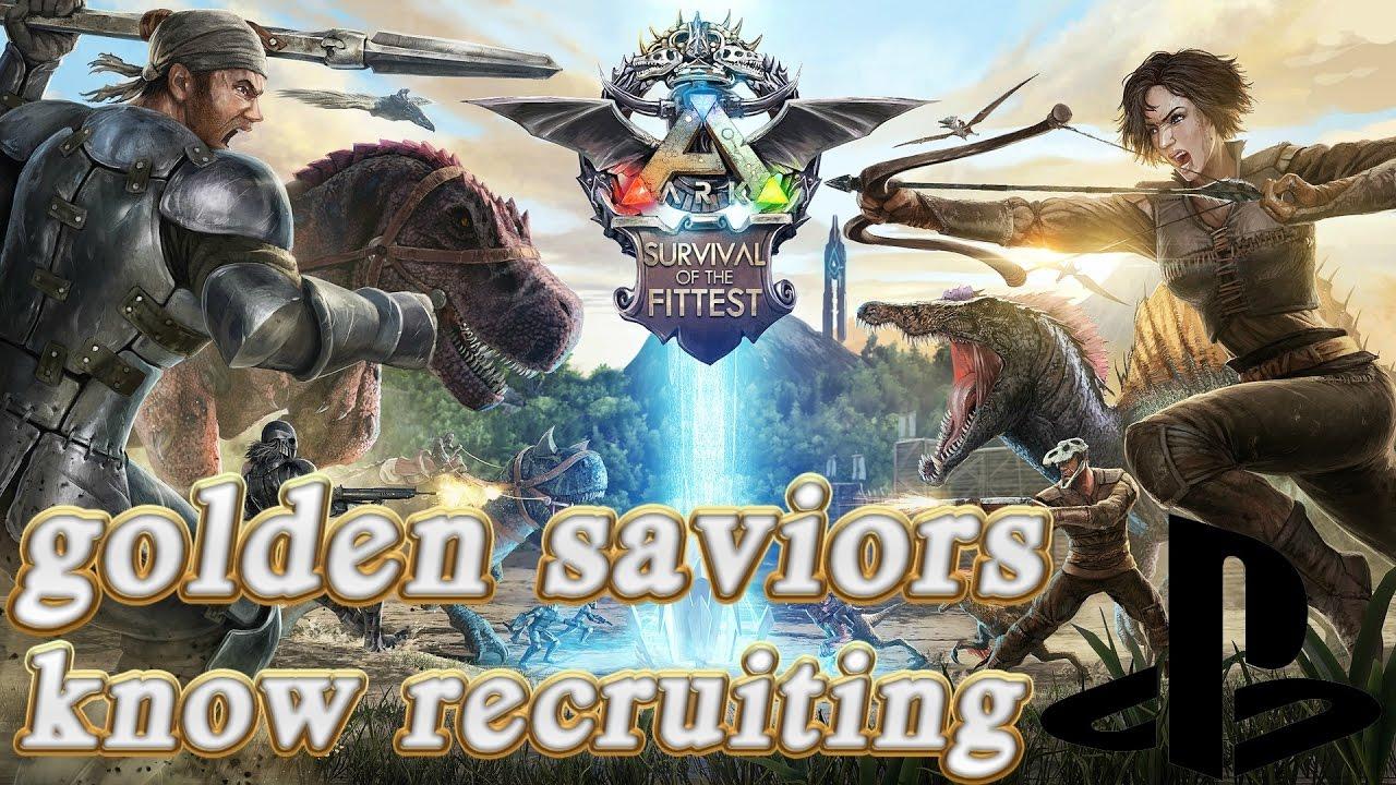 Ark tribe recruiting again (ps4) (Golden saviors - YouTube