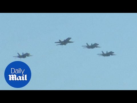 Blue Angels Fly Over John McCain's Funeral In Annapolis