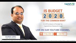 Analysis of Budget 2020-21   CapitalVia Investment Advisor