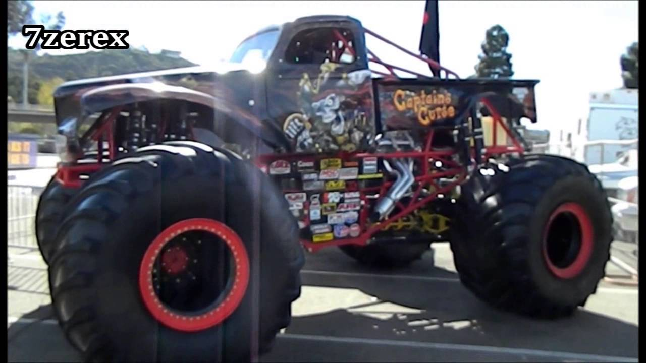 Monster Jam Las Vegas >> Captain's Curse® driven by Alex Blackwell Party Pits Monster Jam San Diego 1-18-2014 - YouTube