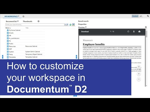 How to customize your workspace | OpenText Documentum D2