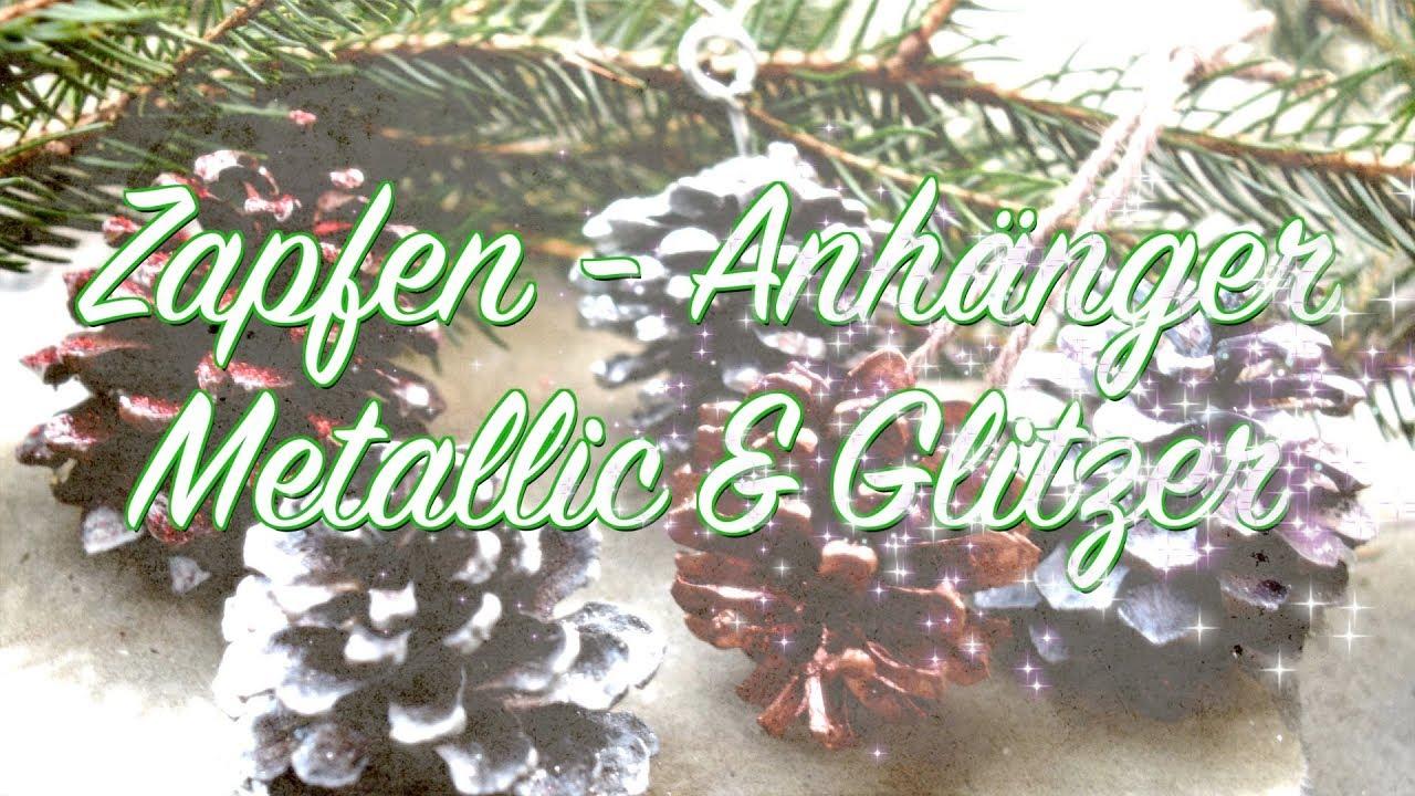 Basteln Mit Tannenzapfen Advent diy anhänger aus zapfen bauen shabby chic herbst weihnachten