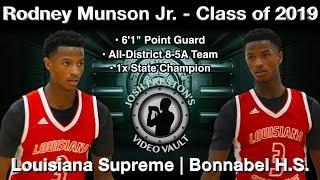 Rodney Munson Highlights (Exposure HoopFest) - Bonnabel/Louisiana Supreme 2019 PG