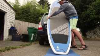 How to put a SUP on your car by yourself- the easy way