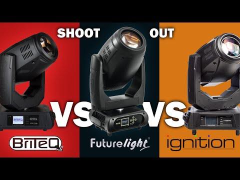 PLB 280 vs. BTX Titan vs. Cobalt X-3 | Shoot out Video hybride Movingheads (4/4)