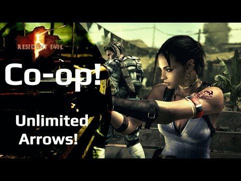 Unlimited Arrows! - Resident Evil 5! Co-op!