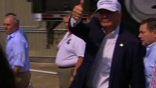 Raw: Trump Visits Flood-Ravaged Louisiana