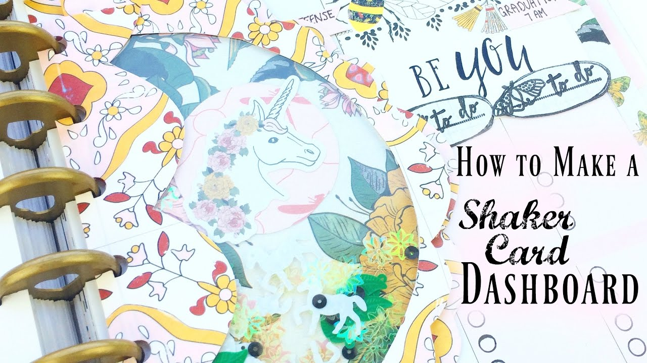 Free Printable! + How to Make a Shaker Dashboard | DIY Happy Planner Inserts