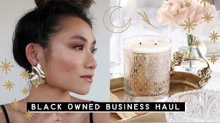 Black Owned Business Haul, Home Decor Jewelry Skincare Makeup Brands To Follow | Miss Louie