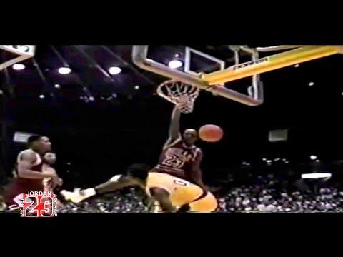 Michael Jordan In Your Face Dunk on Orlando Woolridge!