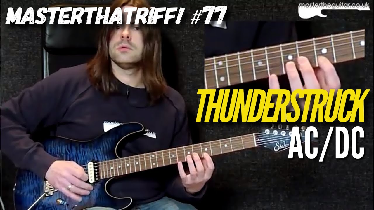 thunderstruck by ac dc riff guitar lesson w tab masterthatriff 77 youtube. Black Bedroom Furniture Sets. Home Design Ideas