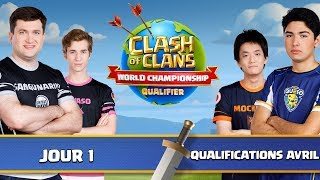 🔴Qualifications World Championships   Surprise SKIN   Phases de groupes   Jour 1   Clash Of Clans