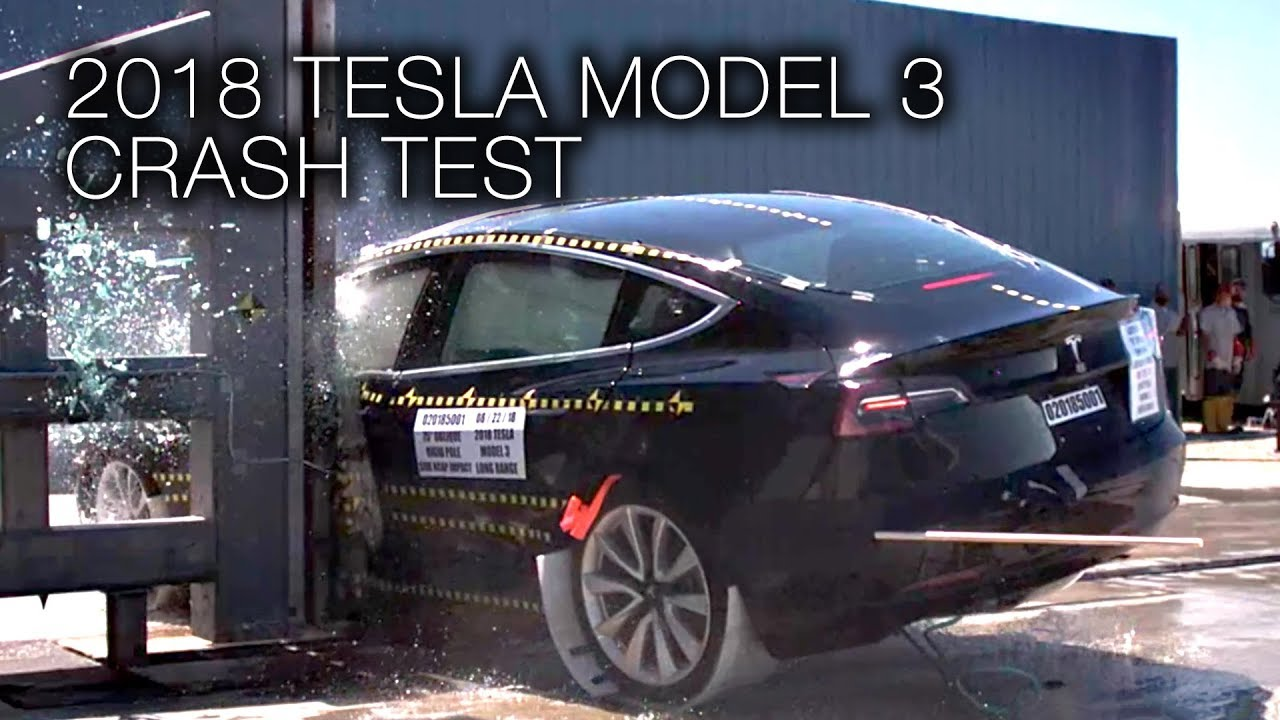 tesla model 3 2018 side pole crash test youtube. Black Bedroom Furniture Sets. Home Design Ideas