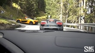 Autobahn and Stelvio Pass with R8, P1, 918 and F12 - Alps Adventure Part 2
