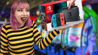 SHE WON A NINTENDO SWITCH FOR $3.00 AT THE ARCADE!