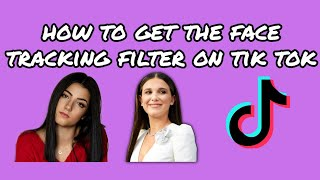 Face tracking filter how to get the track tik tok