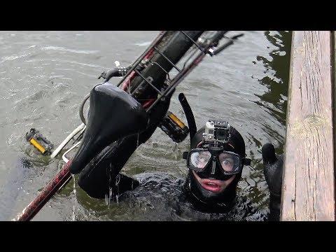 Treasure hunting underwater In the river - Found stolen bike - Vlog_056