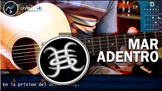 """Cómo tocar """"Mar Adentro"""" de Héroes del Silencio en Guitarra Acústica (HD) Tutorial - Christianvib"""