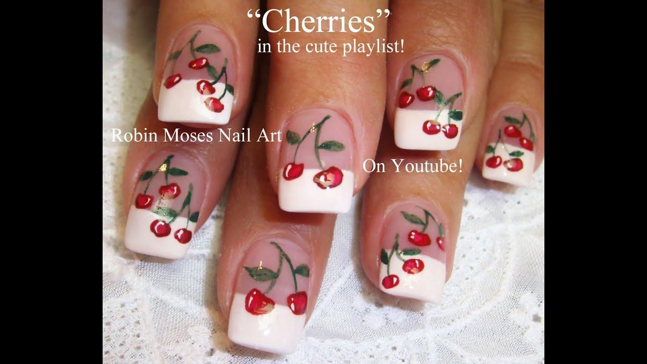 easy cherry nail art cute cherries