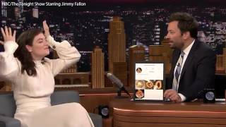 Lorde admits to reviewing onion rings on Instagram on Jimmy Fallon   Daily Mail Online
