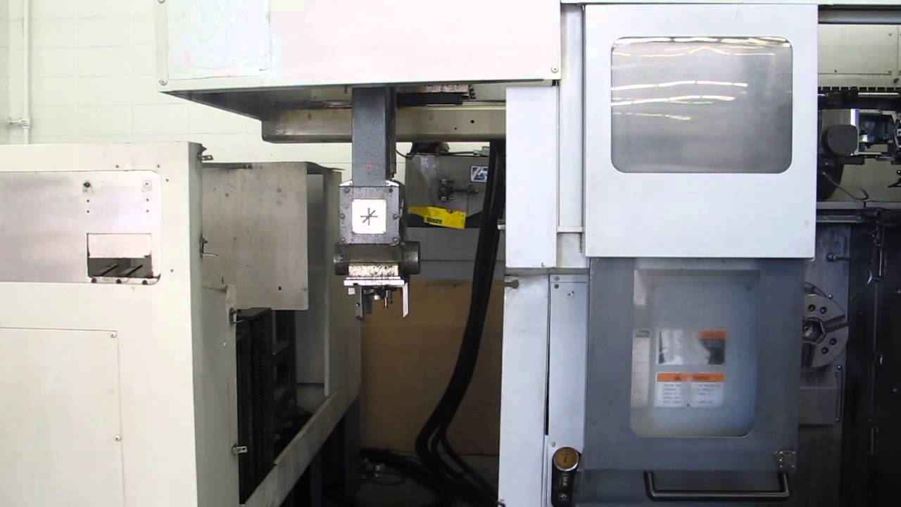 Mori Seiki RL-203 Dual Spindle CNC Turning Center with Gantry Loader Video 2