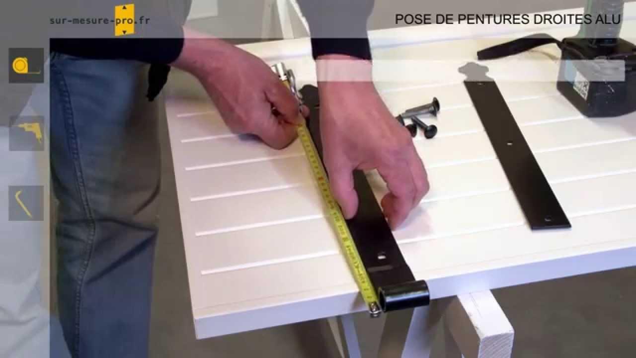 Pose Penture Et Contre Penture Sur Volet Pvc Par Sur Mesure Pro Fr Youtube