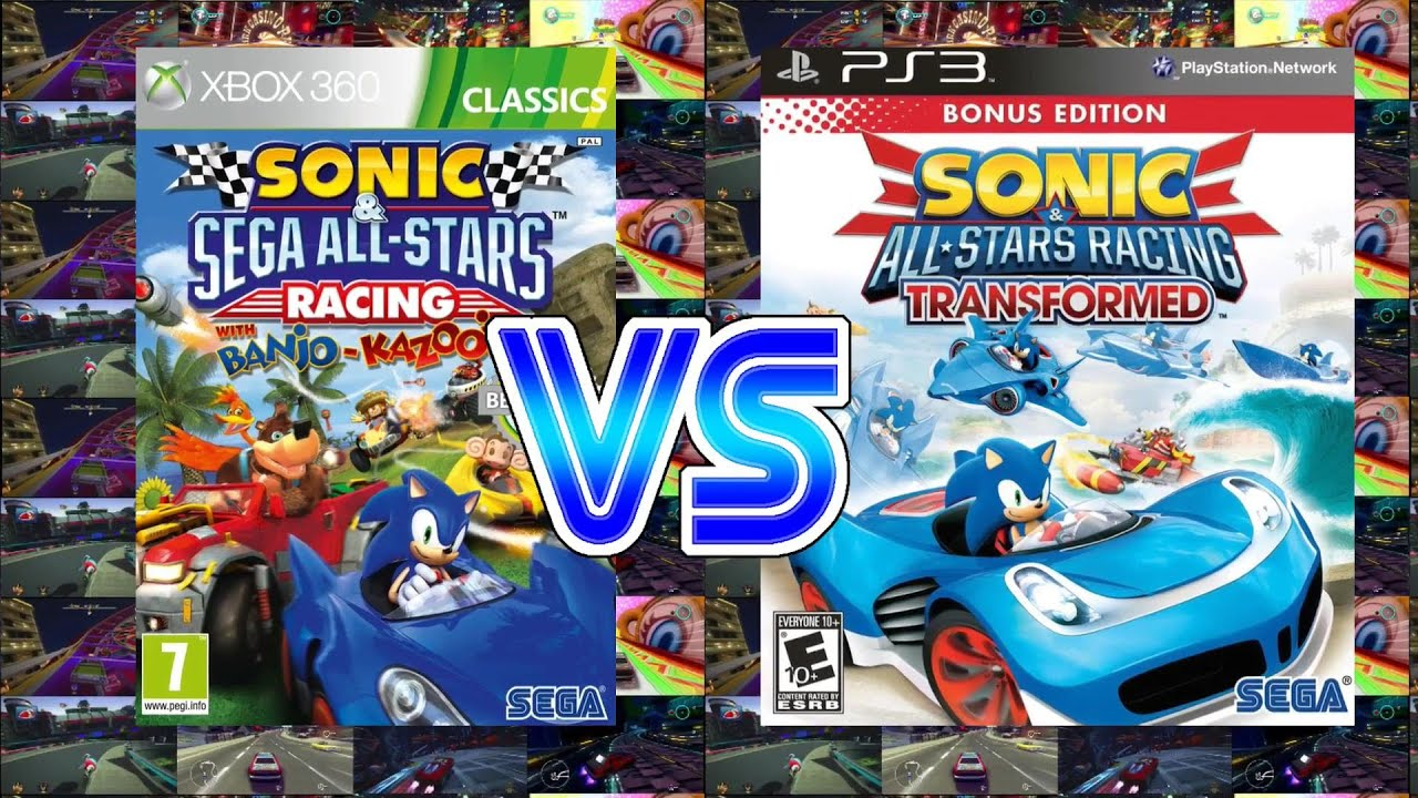 3cd7a5f5a8e7 Sonic and Sega All Stars Racing Vs Sonic and All Star Transformed (Xbox 360  PS3)