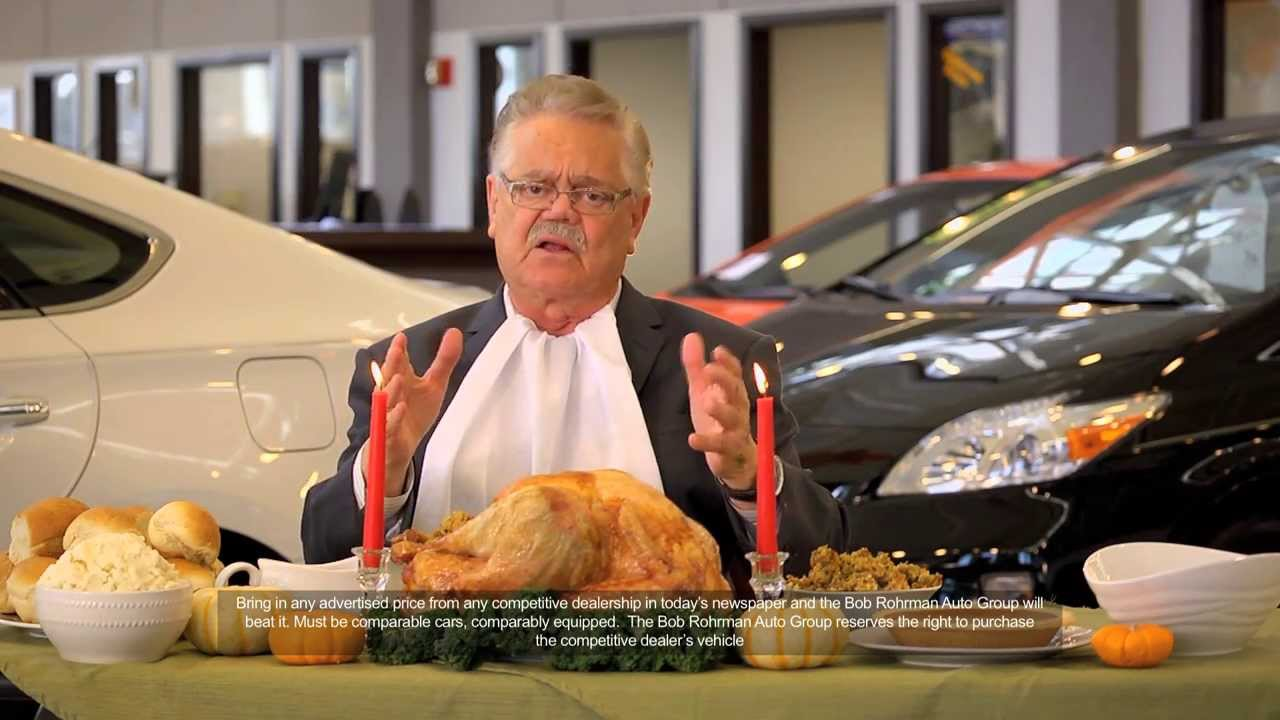 Bob Rohrman Auto Group November 2013 TV Commercial - YouTube