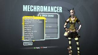 Borderlands 2 - Mechromancer Madness Pack (Horned Child head and Bring Out Your Dead skin)