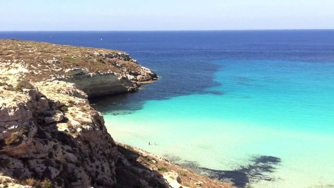 Top Rabbit Beach Lampedusa, Islands of Sicily - YouTube ZV15