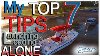 How To launch a boat *ALONE* [ boats, boat ramp, solo boat launch, launching a boat]