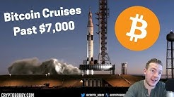 Bitcoin ROCKETS Past $7,000