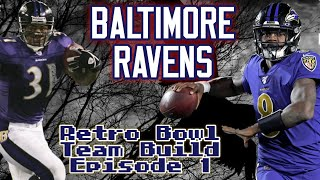 RETRO BOWL TEAM BUÏLDS BALTIMORE RAVENS EP. 1 - LAMAR JACKSON AND JAMAL LEWIS CAN'T BE CONTAINED!!!