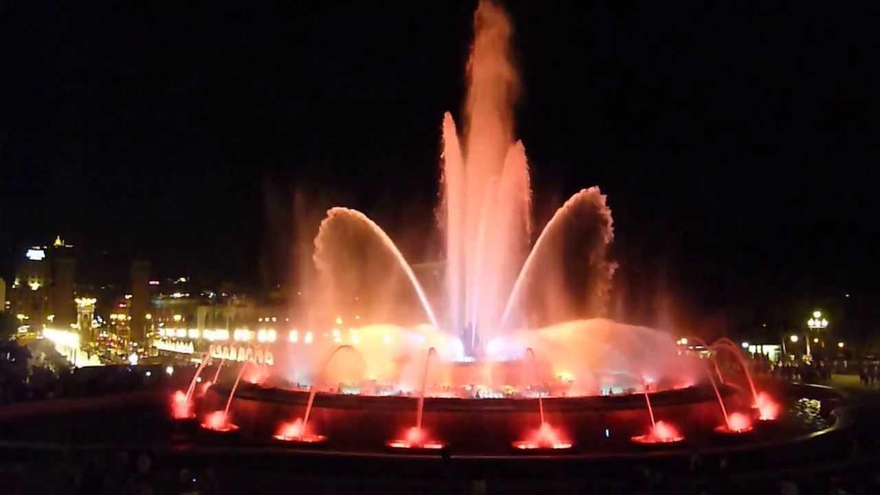 Brunnen Barcelona.Spanien Barcelona Magische Brunnen Magic Fountains Font Màgica 2013