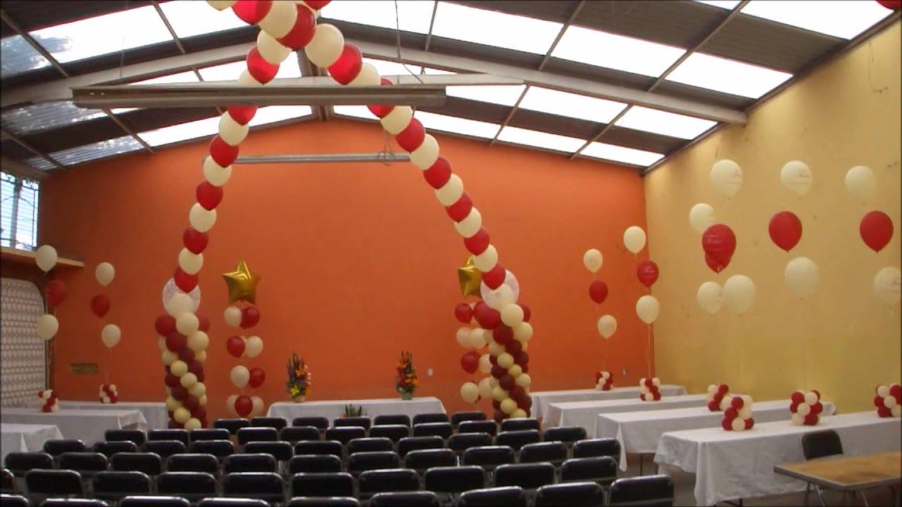 Decoracion con globos tere 60 a os youtube for Decoracion 70 s