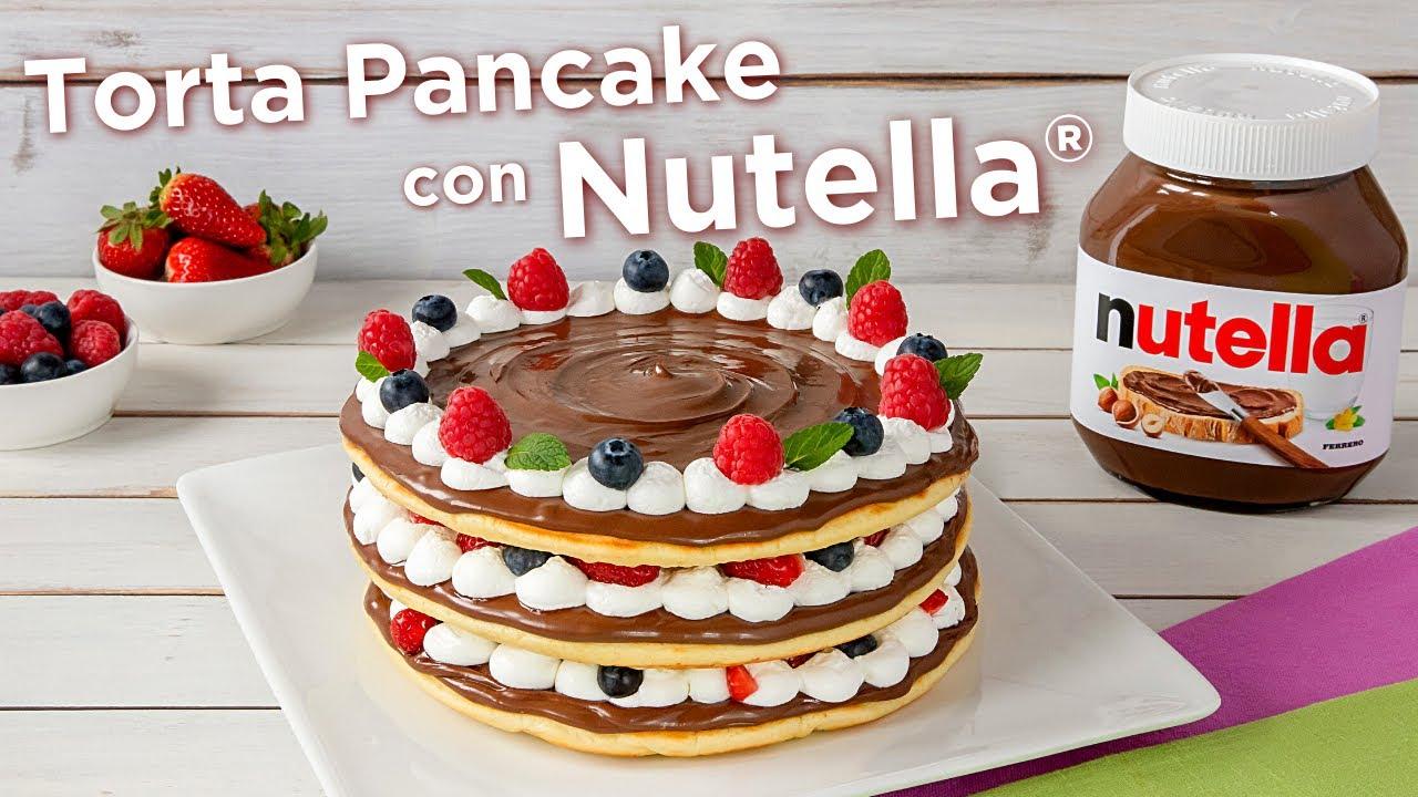 Ricetta Pancake Di Benedetta.Torta Pancake Con Nutella Fatto In Casa Da Benedetta Youtube