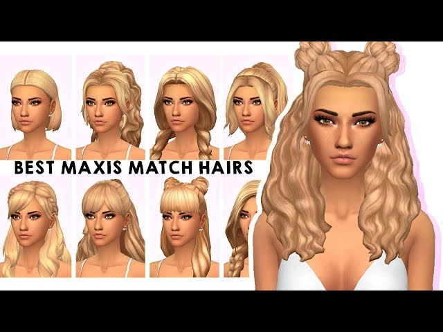 MY MAXIS MATCH HAIR COLLECTION | Sims 4 Custom Content Showcase & LINKS