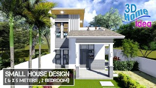 Small House Design With Loft 6x5 Meters , 2 Bedroom