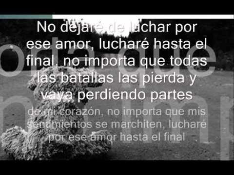 No Dejare De Luchar Por Ese Amor Luchare Hasta El Final Youtube