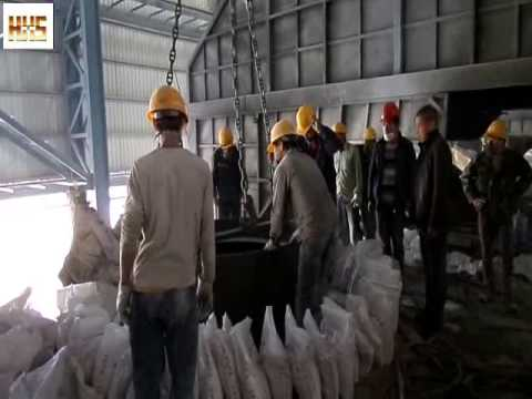 40mt induction furnace lining building with neutral ramming mass and air rammer