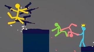 БИТВА МАЛЕНЬКИХ ЧЕЛОВЕЧКОВ ПРОТИВ ЧИТЕРА! (Stick Fight The Game)