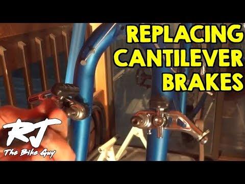 Replacing Shimano Altus Cantilever Brakes (Cracked Plastic Collars)
