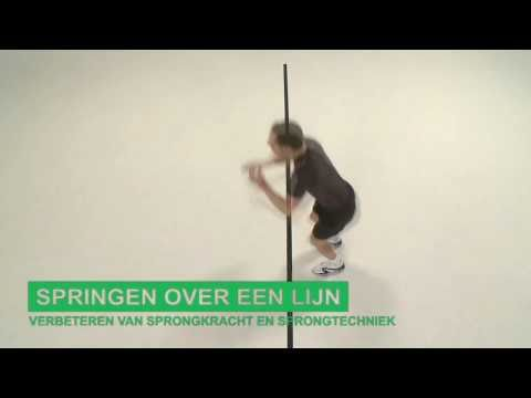 Oefening Bovenbeen Springen Over Een Lijn Youtube