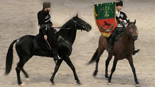 Потрясающая энергетика! Кабардинская порода лошадей #АДЫГЭШ и джигиты Кавказа - это #ИППОсфера 2019!
