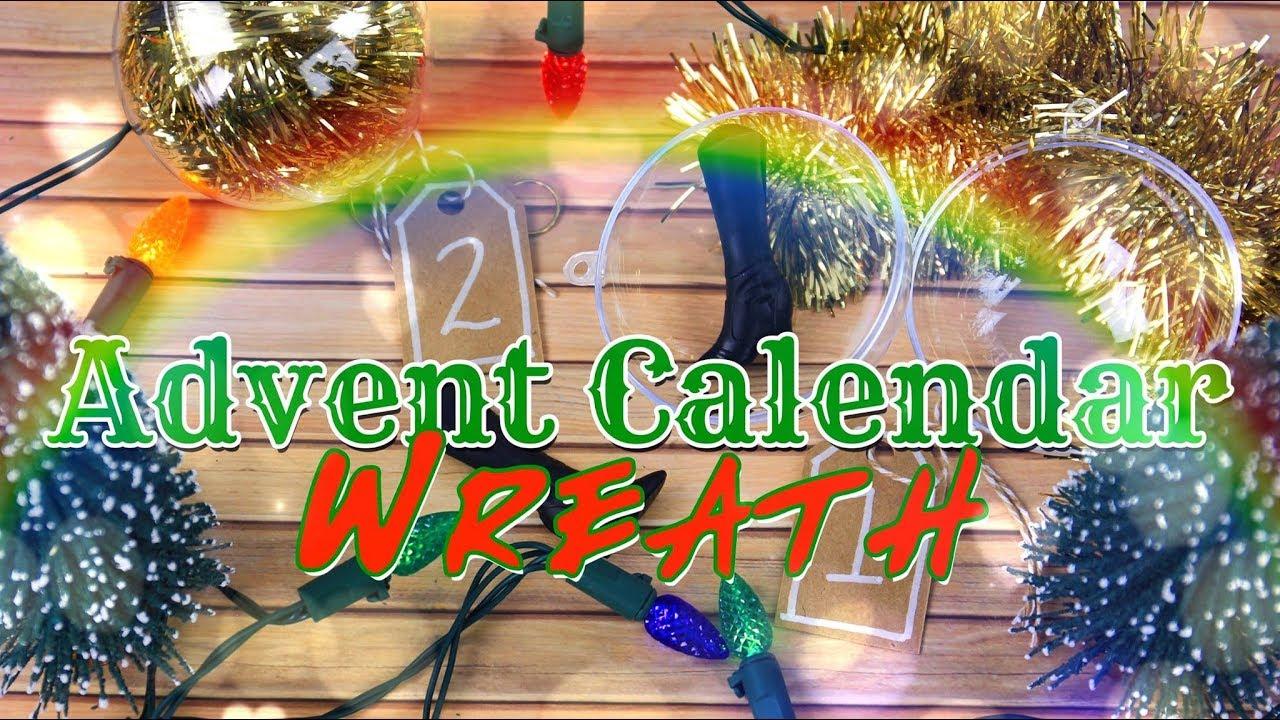 Diy Advent Calendar Wreath : Diy how to make advent calendar wreath blind boxes