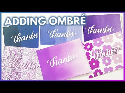 5 Ways To Add Ombre Your Crafts Save The Crafty YouTuber Video Hop