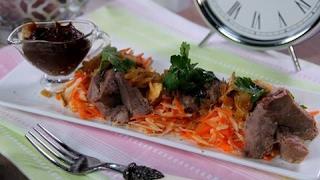 Салат с говяжьим языком - Быстрые рецепты! - Готовим вместе