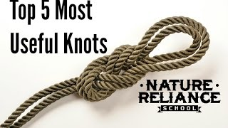 Top Five Useful Knots For Camping Survival Hiking And More Youtube