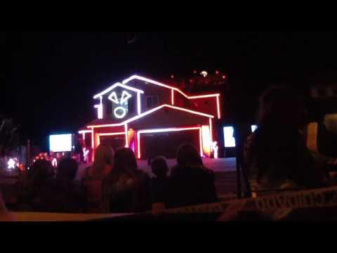 Halloween light show 2016